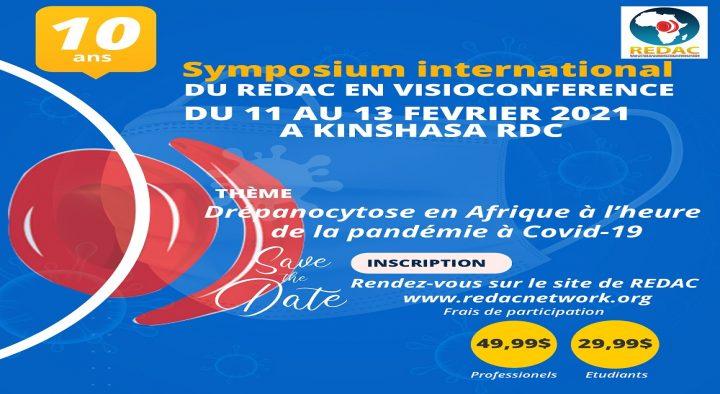 """Conférence virtuelle et présentielle sur la Drépanocytose sur Zoom """" 10 ans du REDAC"""""""